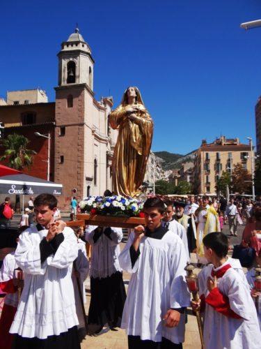 Vierge Marie, Toulon, Port