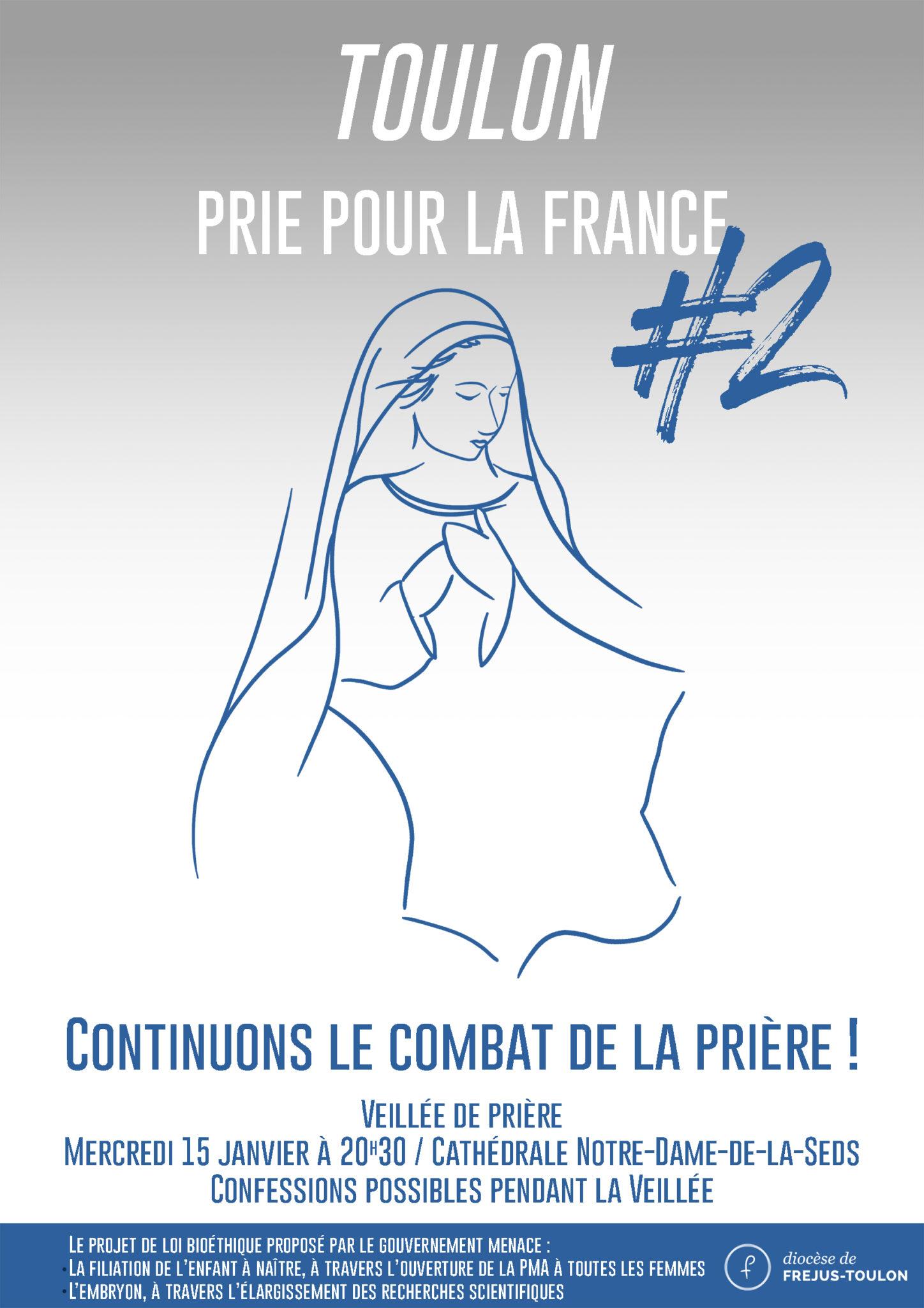 Affiche Toulon prie pour la France2 WEB